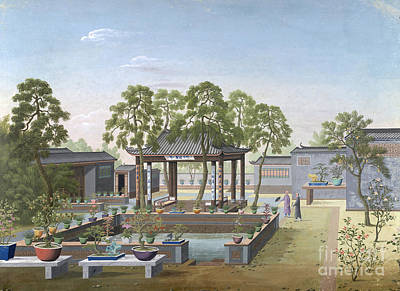 Chinese Garden, 1800 Art Print by British Library