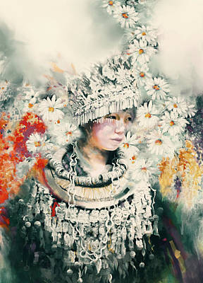 chinese girl 178 IV Art Print by Mawra Tahreem
