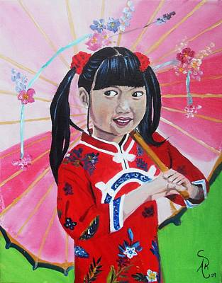 Chinese Girl Art Print by Andrea Realpe