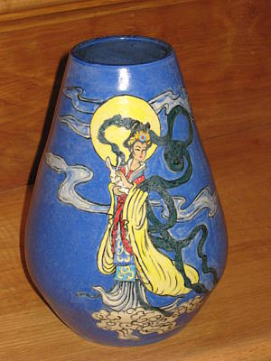 Ceramic Art - Chinese Goddess Vase by Deirdre DeLay