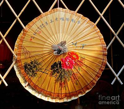 Photograph - Chinese Hand-painted Oil-paper Umbrella by Yali Shi
