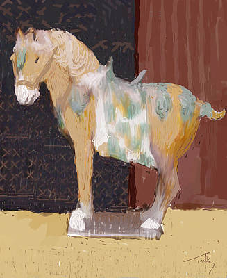 Painting - Chinese Horse by Thomas Tribby