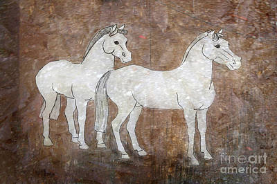 Drawing - Chinese Horses by Nareeta Martin