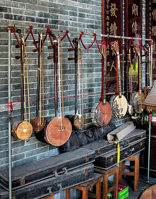 Photograph - Chinese Instruments by Endre Balogh