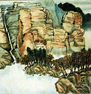 Painting - Chinese Landscape #1 by Betty M M Wong