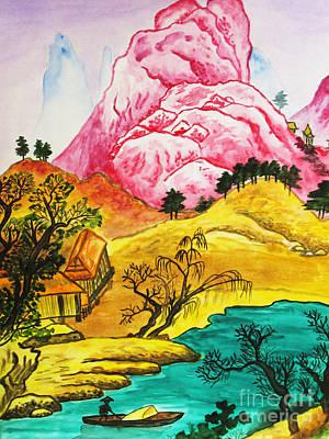 Painting - Chinese Landscape by Irina Afonskaya
