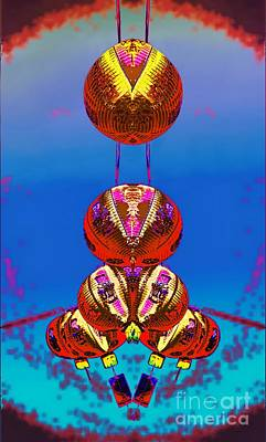 Digital Art - Chinese Lanterns Abstract by Ian Gledhill