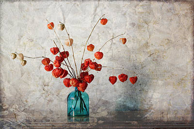 Collage Photograph - Chinese Lanterns by Carol Leigh