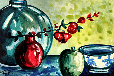 Italian Kitchen Painting - Chinese Lanterns by Elizabeth Robinette Tyndall