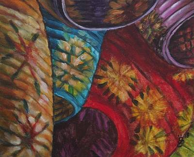 Painting - Chinese Lanterns by Kim Selig