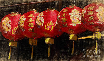 Photograph - Chinese Lanterns by Robin Zygelman