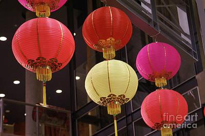 Photograph - Chinese Lanterns Vancouver Chinatown by John  Mitchell