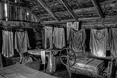 Chinese Laundry In Montana Territory Print by Daniel Hagerman