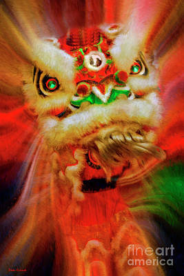 Photograph - Chinese Lion Dance by Blake Richards