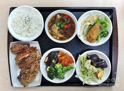 Photograph - Chinese Lunch Set Menu by Yali Shi
