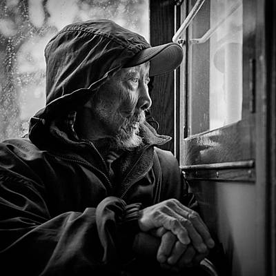 Raincoats Photograph - Chinese Man by Dave Bowman