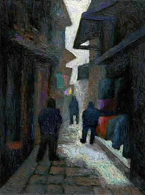 Chinese Market Painting - Chinese Market by Richard Votch