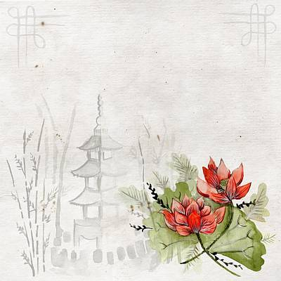 Painting - Chinese Nature by Joy of Life Art Gallery