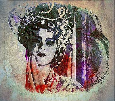 Painting - Chinese Opera - Graffiti Portrait by Ian Gledhill