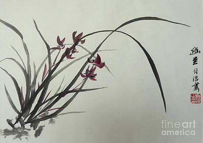 Chinese Orchid Art Print