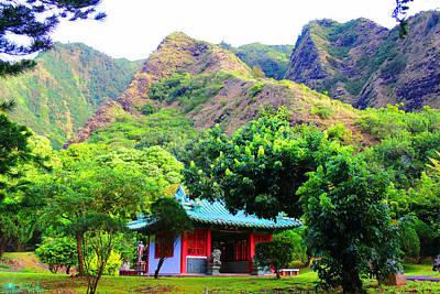 Chinese Pagoda In Maui Original