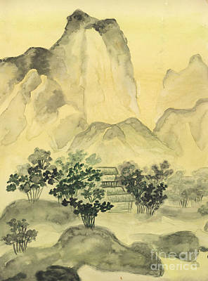 Painting - Chinese Painting Hills by Irina Afonskaya