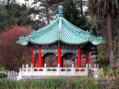 Chinese Pavilion Art Print by Wingsdomain Art and Photography