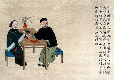 Photograph - Chinese Physician Taking Pulse by Science Source