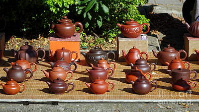 Photograph - Chinese Red Clay Teapot by Yali Shi