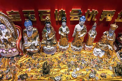 Photograph - Chinese Religious Trinkets And Statues On Display In Xiamen Chin by Jacek Malipan
