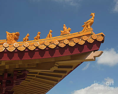 Photograph - Chinese Roof Guards by Cheryl Del Toro