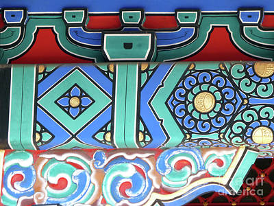Photograph - Chinese Roof Patterns by Lynn Bolt