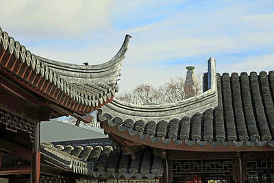Photograph -  Rooftops Of The Chinese Garden by Nareeta Martin