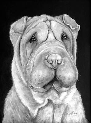 Chinese Sharpei Art Print