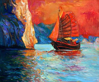 Creativity Drawing - Chinese Ship by Boyan Dimitrov