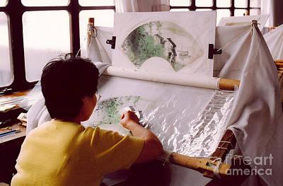 Chinese Silk Art Print by Andrea Simon