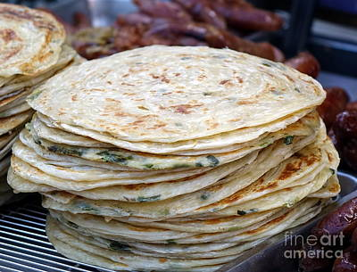 Photograph - Chinese Street Vendor Sells Onion Pancakes by Yali Shi