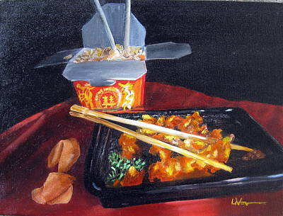 Painting - Chinese Take Out by LaVonne Hand
