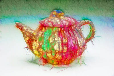 Oriental Teapot Painting - Chinese Teapot 2 by Lanjee Chee