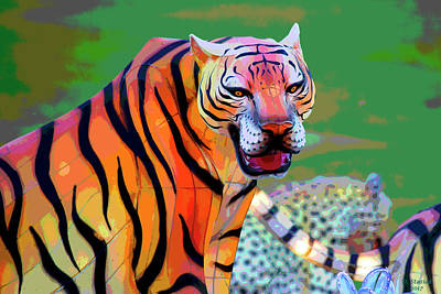 Digital Art - Chinese Tiger 2 by David Stasiak