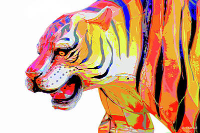Digital Art - Chinese Tiger by David Stasiak