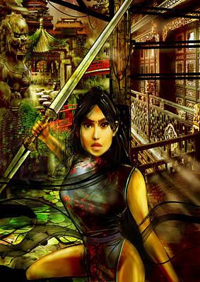 Digital Art - Chinese Warrior Princess by Fabrizio Uffreduzzi