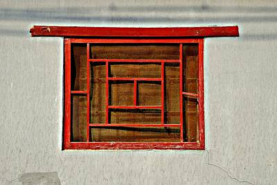 Photograph - Chinese Window by Dean Harte