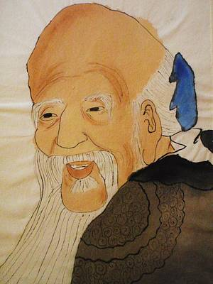 Old Chinese Man Painting - Chinese Wise Man by Cris Motta
