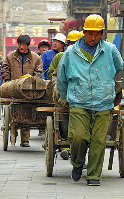 Photograph - Chinese Workers by Joel Gilgoff