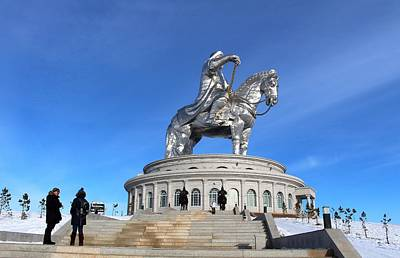 Photograph - Chinggis Khan Statue/tsagaan Sar by Diane Height
