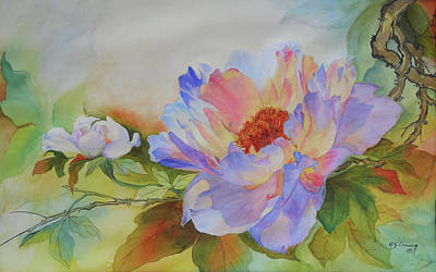 Canna Painting - Chinoiserie by H S Craig