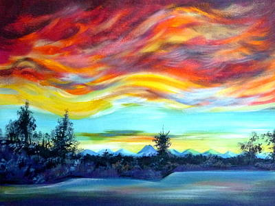 Chinook Arch Over Bow River Original by Anna  Duyunova
