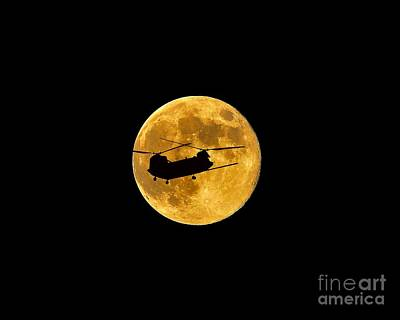 Lunation Photograph - Chinook Moon Color .png by Al Powell Photography USA