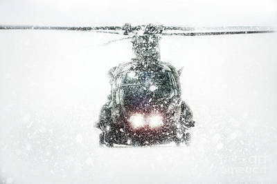 Chinook Digital Art - Chinook Snow Storm by J Biggadike